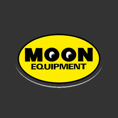 Moon Equipment Oval Sticker Yellow