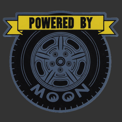 Powered By Moon Sticker