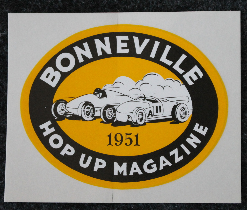 1951 Bonneville Salt Flats Decal
