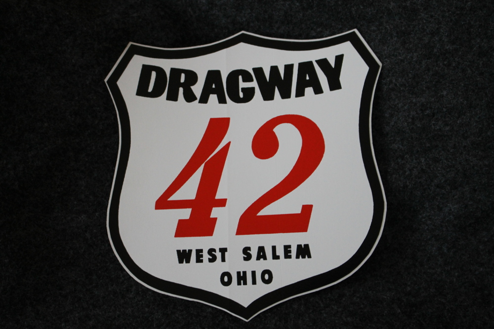 Dragway 42 Shield Decal