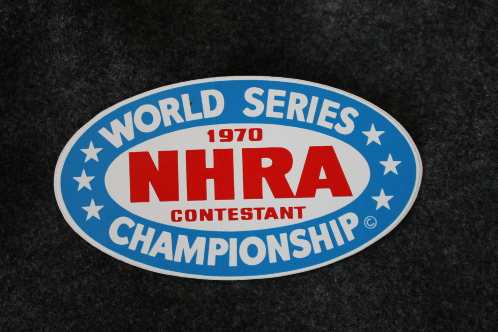 1970 NHRA Championship Contestant Decal