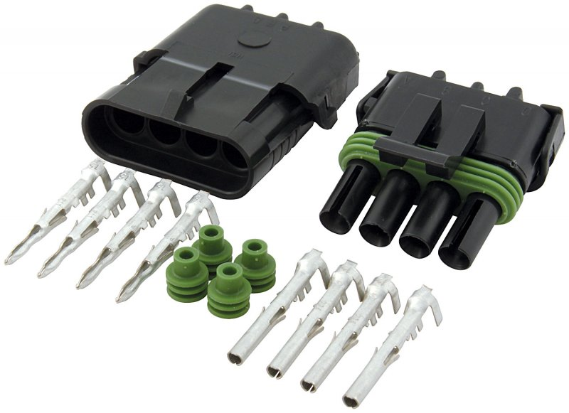 4 wire Weatherpack Connector Kit Flat Style