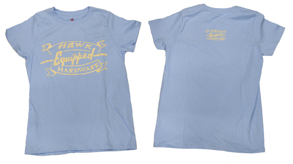 Hawk Hardware Equipped Ladys Blue Shirt