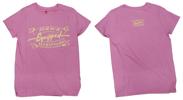 Hawk Hardware Equipped Ladys Pink Shirt