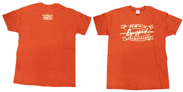 Hawk Hardware Speed Shop Mens Orange T Shirt