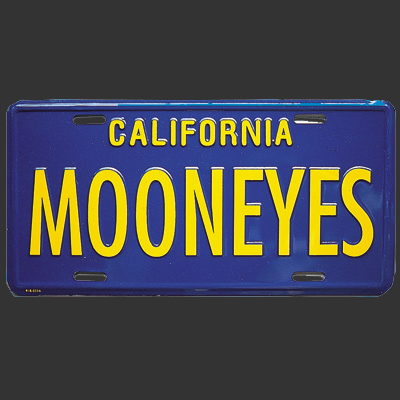 Mooneyes California License Plate Black [MG081BK] - $14 00 : Hawk