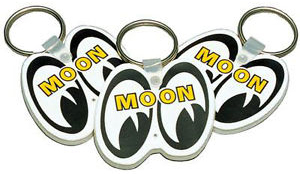Mooneyes Rubber Key Chain White