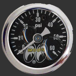 Moon Direct Mount Pressure Gauge 0 to 60psi
