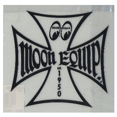 Moon Equipped Iron Cross Vinyl Sticker