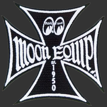 Black Moon Equip Iron Cross Patch