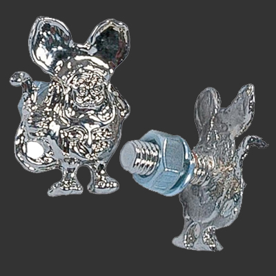 Rat Fink License Plate Bolts Chrome