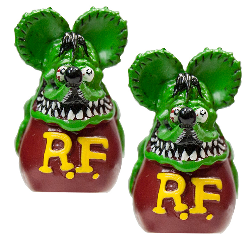 Rat Fink Valve Caps Green