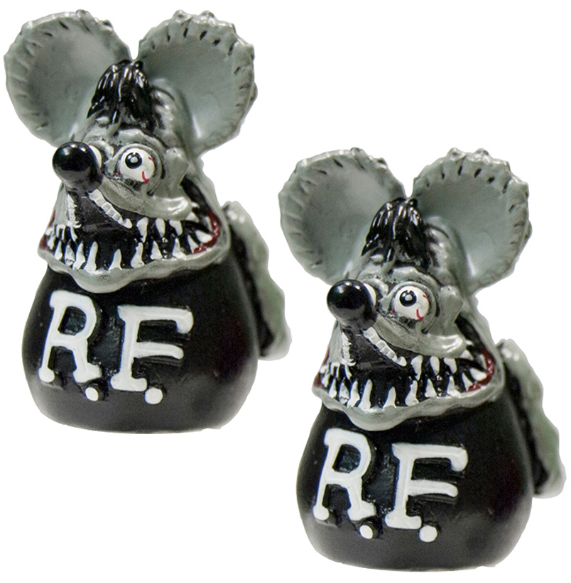 Rat Fink Valve Caps Gray