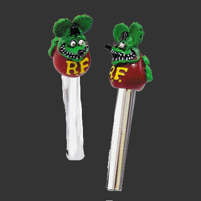 Rat Fink Door Lock Knobs Green