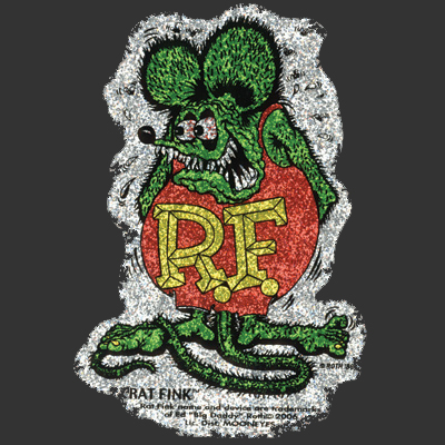 Rat Fink Sparkle Sticker