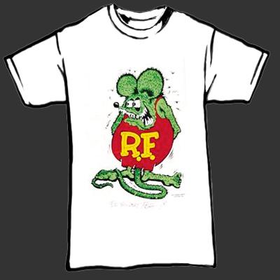 Rat Fink Original T Shirt White