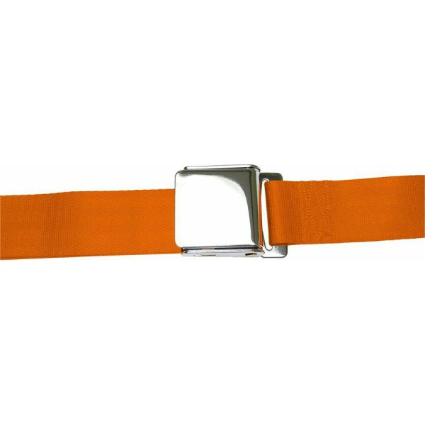 Orange Seatbelt Airplane Buckle