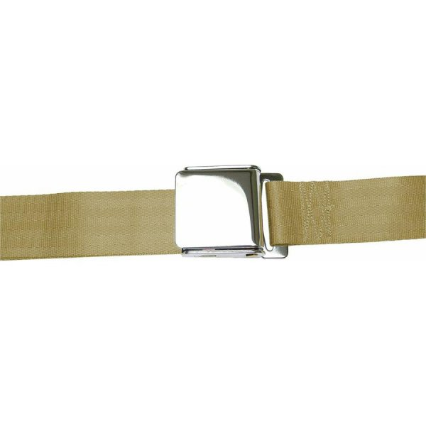 Tan Seatbelt Airplane Buckle