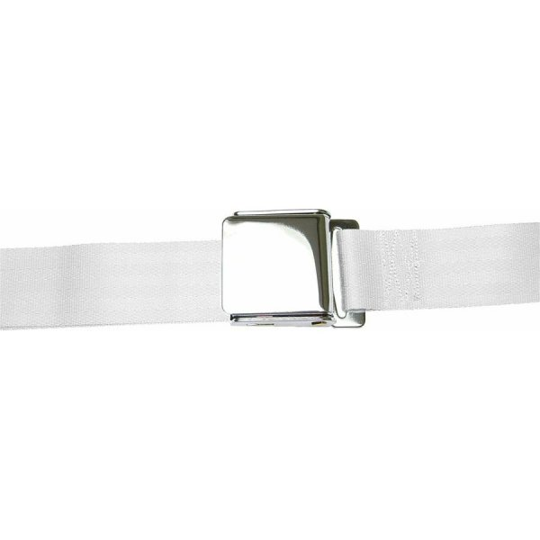 White Lift Latch Seatbelt