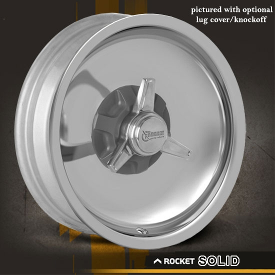 Rocket Solid Machined Finish Wheel