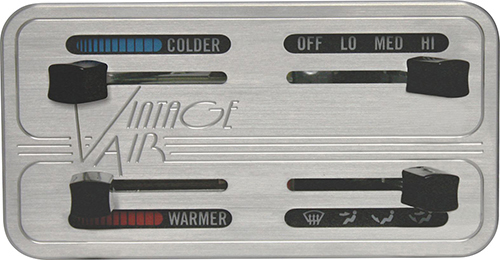 Gen II Aluminum Face Horizontal Slide Control Panel