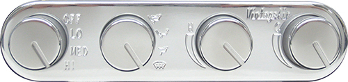 Gen II Polished Horizontal 4 knob Controls