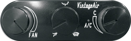Gen IV Proline Horizontal Black Anodized Control Panel
