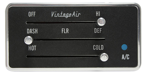 Gen IV Rectangle Control Panel with Polished Knobs